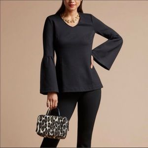 Cabi Style 3500 Black It's a Party Bell Sleeve Top